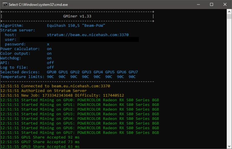GMiner CUDA Equihash Mineur v1.33 pour carte graphique AMD